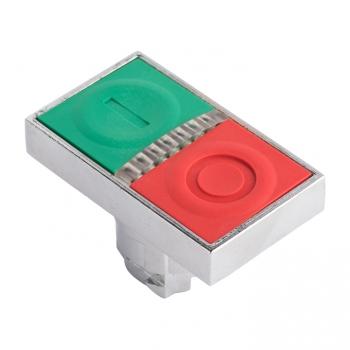 """Исполнительный механизм кнопки XB4 """"пуск-стоп""""  плоский  возвратный без фиксации, с подсветкой EKF PROxima"""