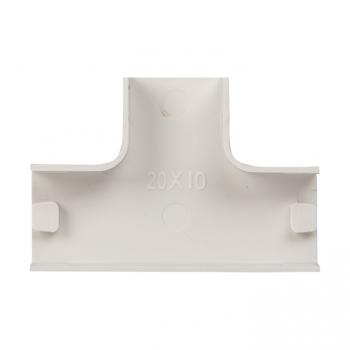Угол T-образный (20х10) (4 шт) Plast EKF PROxima Белый