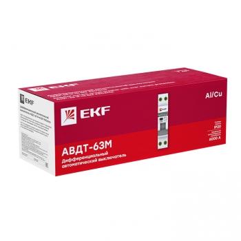 Дифференциальный автомат АВДТ-63М 20А/30мА (1мод., хар.C, электронный тип AС) 6кА EKF PROxima
