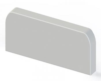 Заглушка (105х50) (2 шт) EKF C-Line Белый