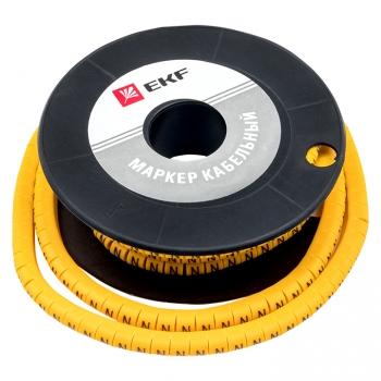 """Маркер кабельный 4,0 мм2 """"N"""" (500 шт.) (ЕС-2) EKF PROxima"""
