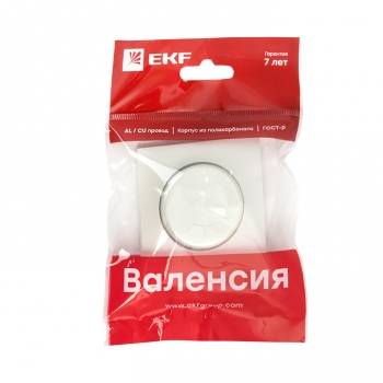 Валенсия лицевая панель светорегулятора 600W 220В жемчуг EKF PROxima