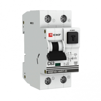 Дифференциальный автомат АВДТ-63 6А/30мА (характеристика C, эл-мех тип A) 6кА EKF PROxima