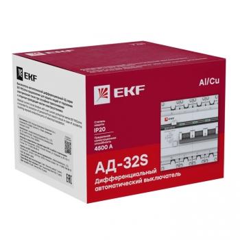 Дифференциальный автомат АД-32 (селективный) 3P+N 40А/100мА EKF PROxima