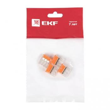 Клемма СМК 2273-243 (с пастой) 3 отверстия 0,5-2.5мм2 (4шт.) EKF PROxima
