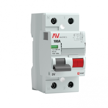 Устройство защитного отключения DV 2P 100А/300мА (S) EKF AVERES