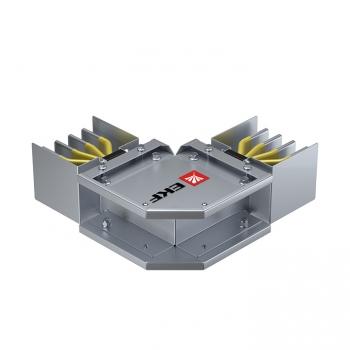 Угловая горизонтальная секция 800 А IP55 AL 3L+N+PE(КОРПУС)