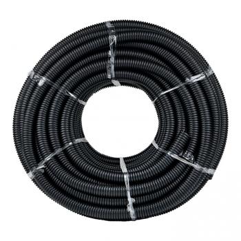 Труба гофр. ПНД Plast с зондом d32мм (25м.) черная EKF PROxima