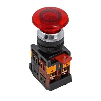 Кнопка AELA-22 красная с подсветкой NO+NC 220В Грибок EKF PROxima