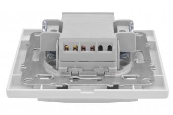 Минск Выключатель 1-клавишный СП с индикатором,10А, белый EKF Basic