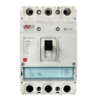 Автоматический выключатель AV POWER-2/3 250А 35kA TR