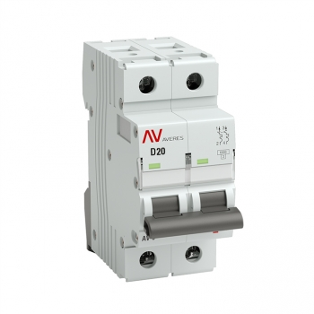 Выключатель автоматический AV-10 2P 20A (D) 10kA EKF AVERES