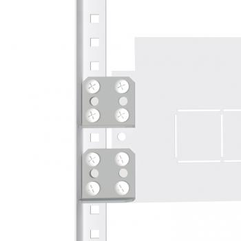Комплект монтажных пластин для вертикальных перегородок (4 шт) EKF AVERES