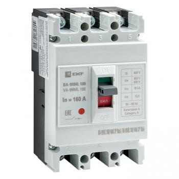 Автоматический выключатель ВА-99МL 100/160А 3P 18кА EKF Basic