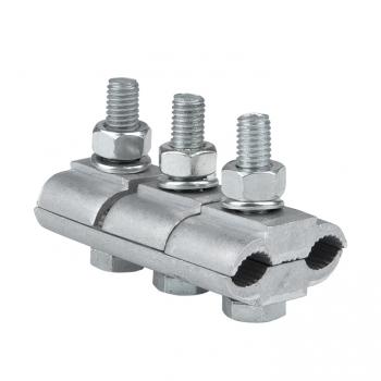 Зажим соединительный плашечный 3 болта М6 (D провода 9,6...11,4 мм) ПА-2-2 EKF PROxima