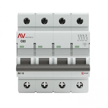 Выключатель автоматический AV-10 4P 63A (C) 10kA EKF AVERES