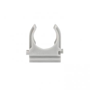 Крепеж-клипса серая d16мм  (100шт.) Plast EKF PROxima