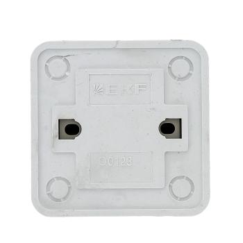 Рим Выключатель 2-клавишный с индикатором 10А белый EKF