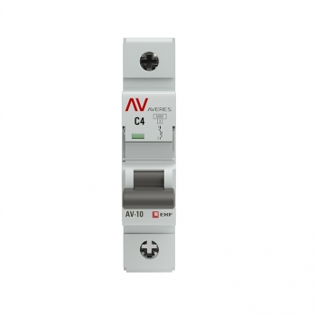 Выключатель автоматический AV-10 1P  4A (C) 10kA EKF AVERES