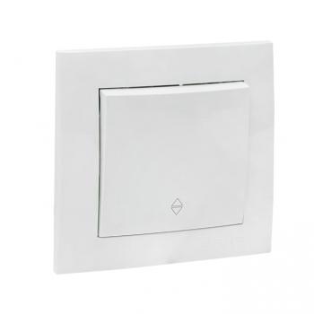 Валенсия выключатель 1-кл. 10А белый проходной EKF PROxima