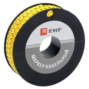 """Маркер кабельный 4,0 мм2 """"A"""" (500 шт.) (ЕС-2) EKF PROxima"""