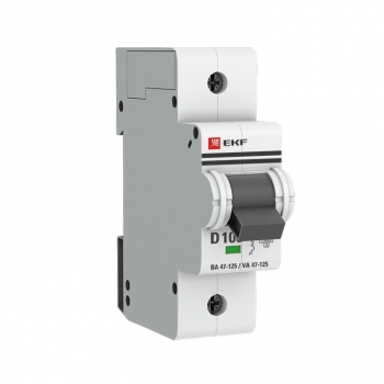 Автоматический выключатель 1P 100А (D) 15кА ВА 47-125 EKF PROxima