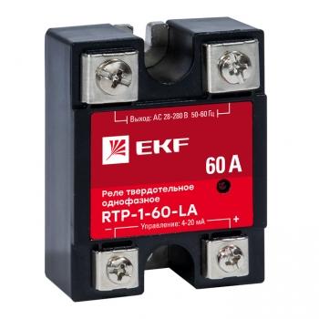 Реле твердотельное однофазное с регулированием 4-20мА RTP-60-LA EKF PROxima