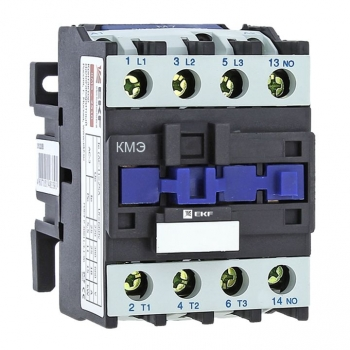 Контактор КМЭ малогабаритный 25А 400В 1NC EKF Basic