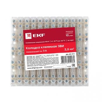 Колодка клеммная (4мм) 3А (10шт.) EKF PROxima