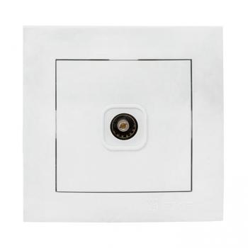Валенсия розетка телевизионная 1-местная 75Ом 5-862МГц белая EKF PROxima