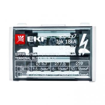 Шина нулевая в корпусе (2х7) EKF PROxima