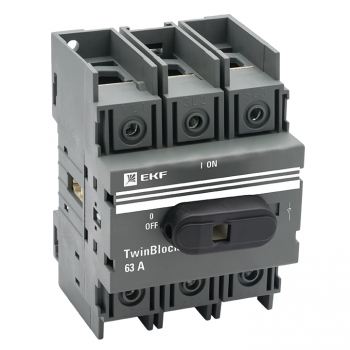Рубильник   63A 3P c рукояткой управления для прямой установки TwinBlock EKF
