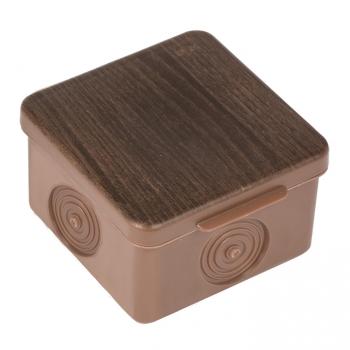 Коробка распаячная КМР-030-037 пылевлагозащищенная без мембранных вводов (73х73х49) светлое дерево EKF PROxima