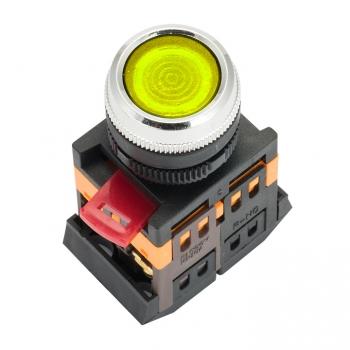 Кнопка ABLFS-22 с подсветкой желтая NO+NC 230В EKF PROxima