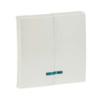 Валенсия лицевая панель выключателя 2-кл. с индикатором 10А жемчуг EKF PROxima
