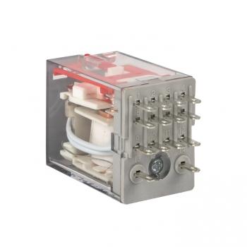 Реле промежуточное с кнопкой и мех. Индикацией RPAt 22/4 5A 230В AC EKF AVERES