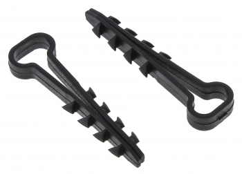 Дюбель-хомут (6х14 мм) для плоского кабеля черный (100 шт.) EKF PROxima