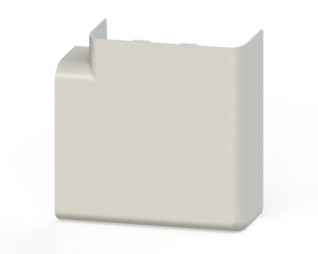 Поворот 90 гр. (105х50) (2 шт) EKF C-Line Белый