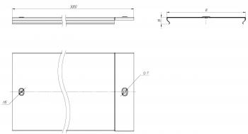 Крышка на металлический лоток основание 500мм-0,7мм (6м) L3000 EKF