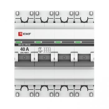 Выключатель нагрузки 4P  40А ВН-63 EKF PROxima