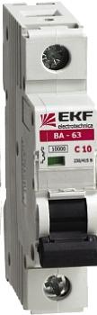 Автоматический выключатель ВА-63, 1P 1А (C) 10kA EKF