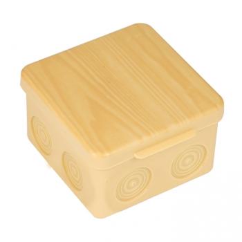 Коробка распаячная КМР-030-034 пылевлагозащищенная без мембранных вводов (109х109х55) светлое дерево EKF PROxima