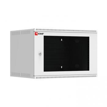 Шкаф телекоммуникационный настенный 6U (600х450) дверь стекло, Astra серия EKF PROxima