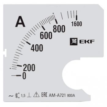 Шкала сменная для A721 800/5А-1,5 EKF PROxima
