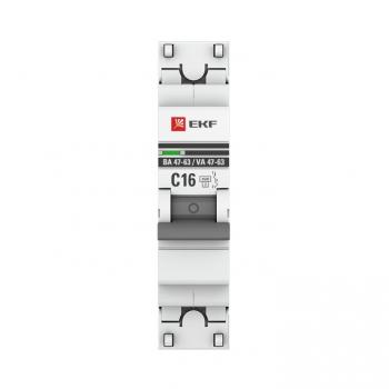 Автоматический выключатель 1P 40А (В) 4,5kA ВА 47-63 EKF PROxima