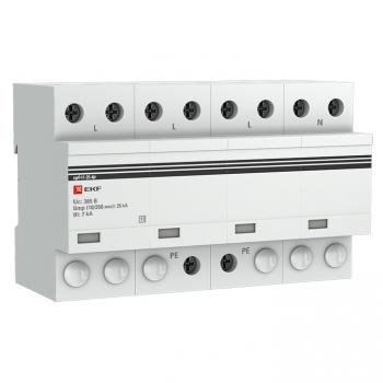 Устройство защиты от импульсных перенапряжений Тип 1 Iimp 25kA (10/350μs) 4P EKF