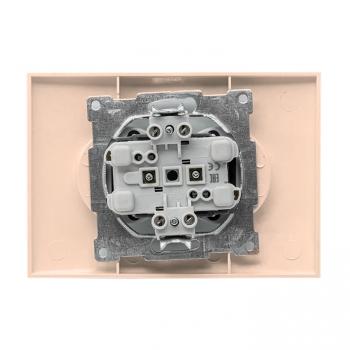 Валенсия розетка 2-местная б/з 10А кремовая с защ. штор. EKF PROxima