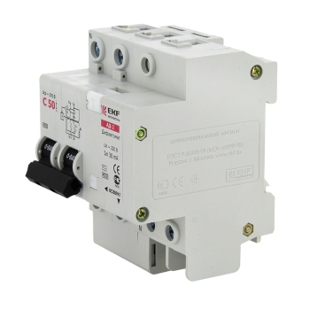 Дифференциальный автомат АД-2 16А/30мА (характеристика C, тип AC) 4,5кА EKF