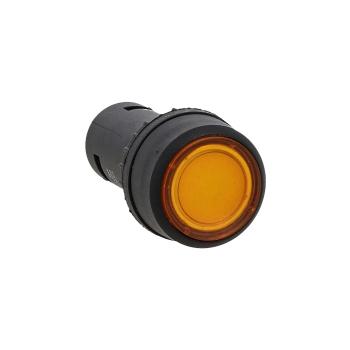 Кнопка SW2C-10D с подсветкой желтая NO EKF PROxima