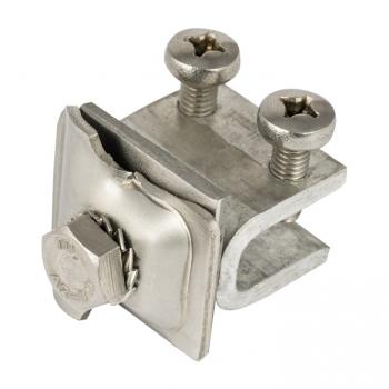 Фальцевый зажим проводника 6 - 10 мм, нерж. на алюм. опоре EKF